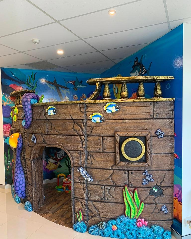 Image of kids play area outside reception
